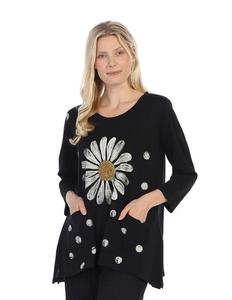 "Jess & Jane ""Happy Days"" Daisy Patch Pocket Tunic Top - CS4-1361"