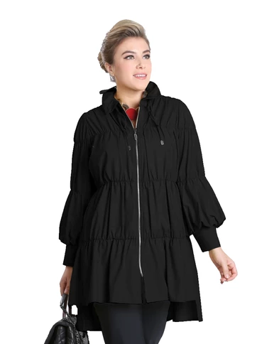 IC Collection Zip Front Parachute Jacket-8420J
