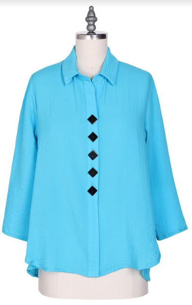 Yushi 5 Button Collared Top-1339