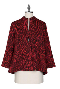 Yushi Clothing- One Button Shaped Jacket (Red)-1968