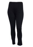 Jess & Jane Mineral Washed Cotton Legging Pants -M31-JET (Solid Black)