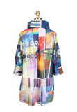 Damee Watercolor Abstract Swing Jacket in Multi - 4595-MLT