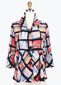 Damee Watercolor Short Jacket-4633-CRL