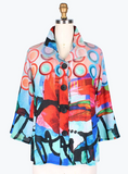 Damee Abstract Ring Short Jacket-4632-MLT