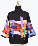 Damee Oil Painting Short Jacket-4622-BLK