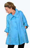 Damee NYC Shimmery Signature Swing Jacket-200-SKY BLUE