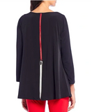 NEW - IC Collection Round Neck Tunic - 3478T - BLK