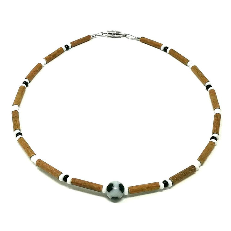 B14 | Soccer ball | Hazel wood necklace for babies & toddlers age 3-4
