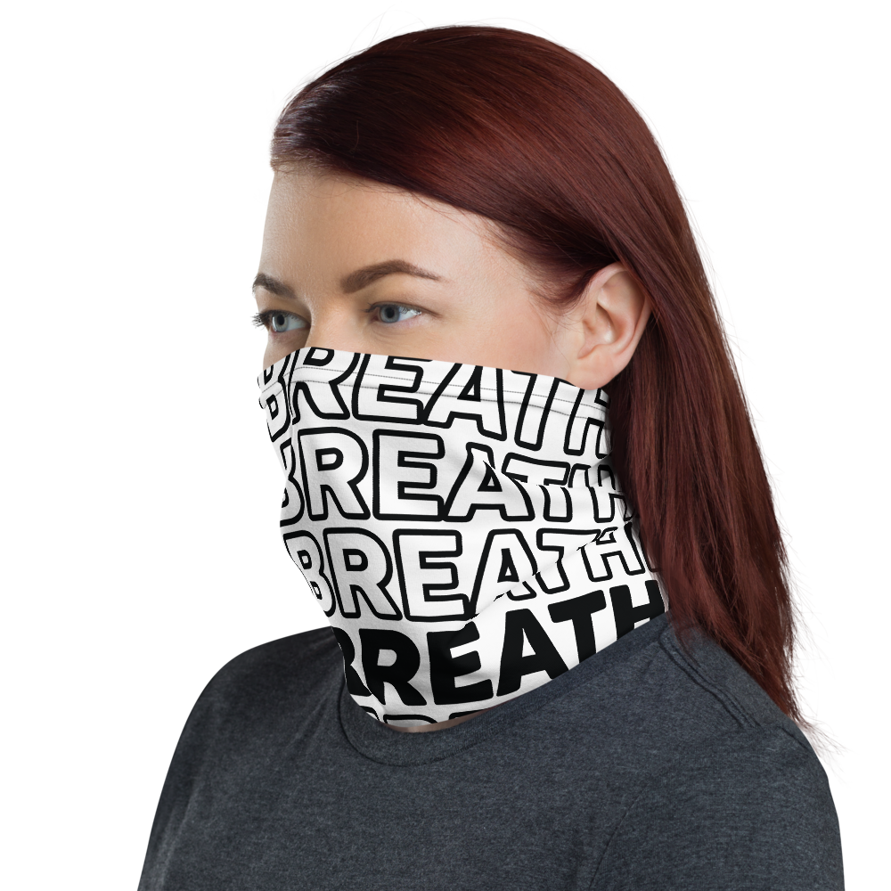 WHITE & BLACK NECK GAITER ( FACE MASK)
