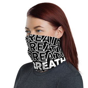 BLACK & WHITE JUST BREATHE NECK GAITER