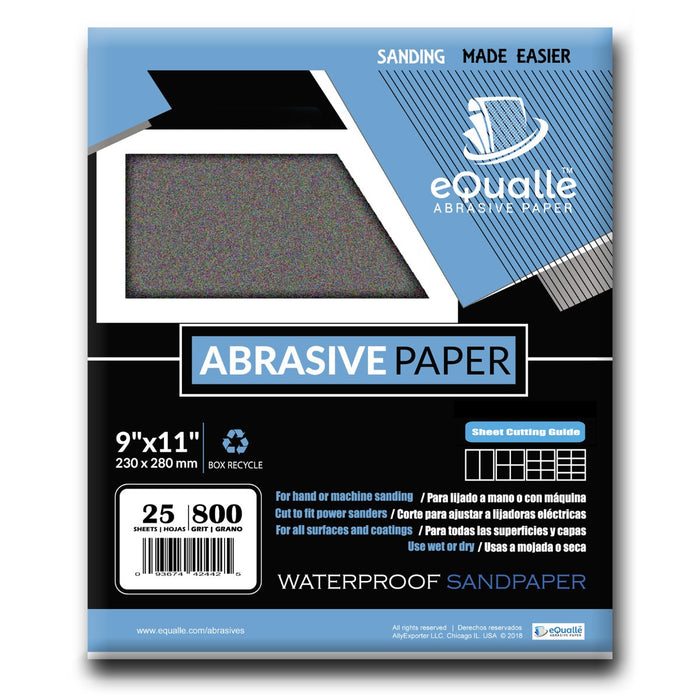 5 Sanding Sheets Silicon Carbide Wet//Dry Waterproof Sandpaper 9x11,800 Grit