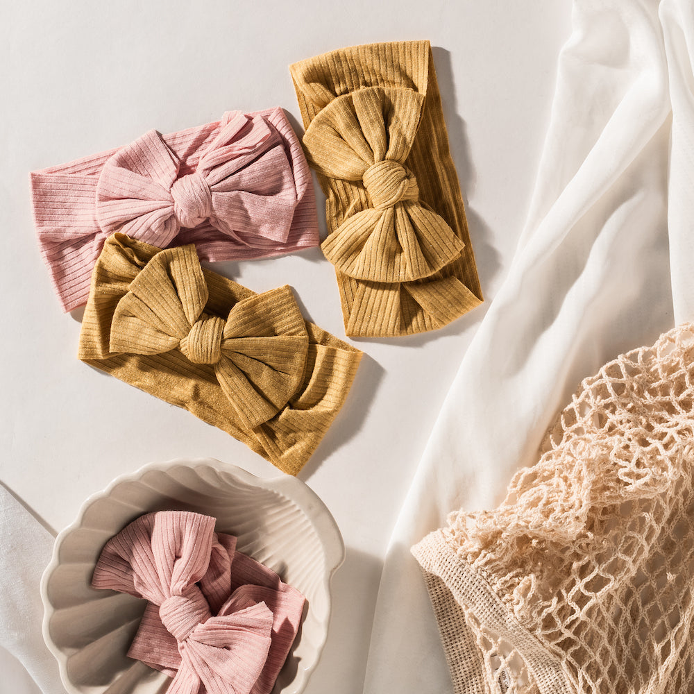 Textured Bow Knot Headbands
