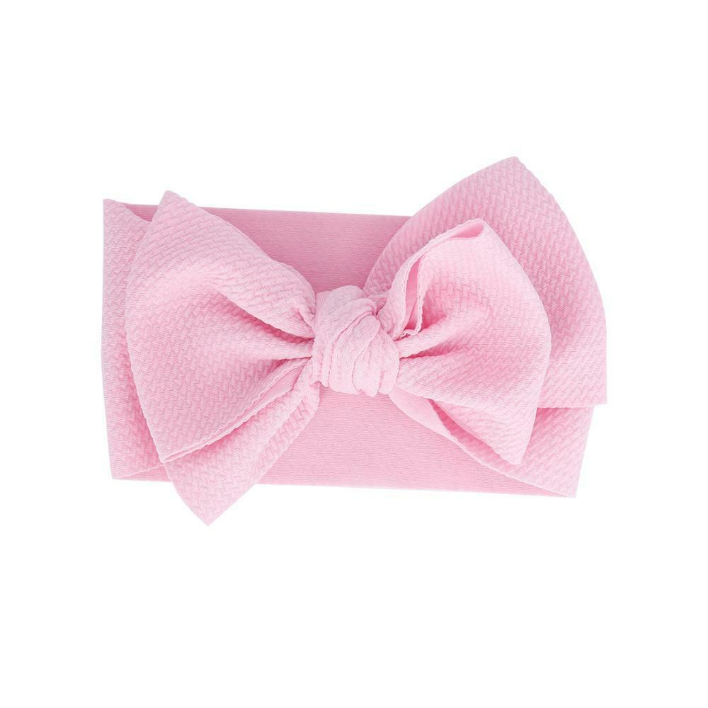 Baby Adjustable Bow Headband — Blush
