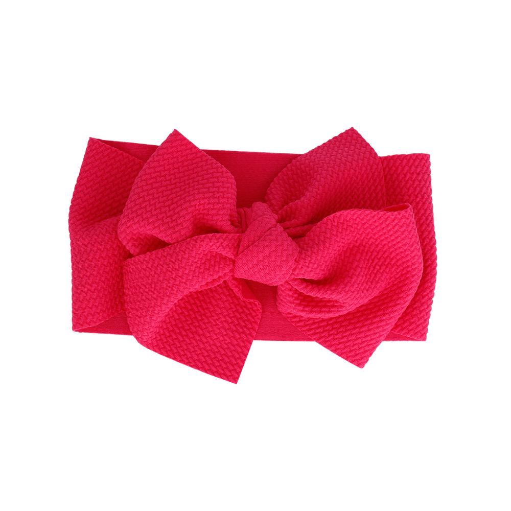 Baby Adjustable Bow Headband — Lipstick
