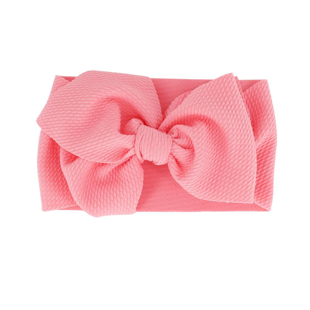 Baby Adjustable Bow Headband — Rose