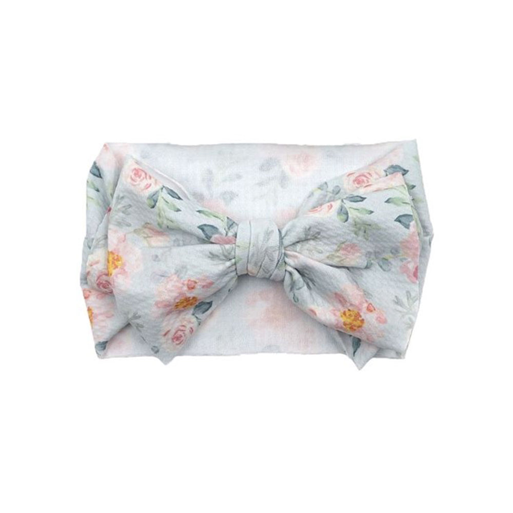 Baby Adjustable Printed Bow Headband — Design #2