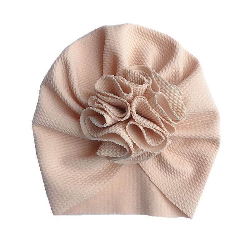 Baby Bobble Knot Turban — Cream