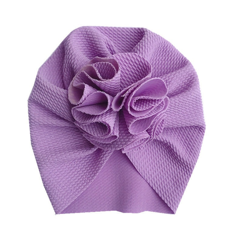 Baby Bobble Knot Turban — Orchid