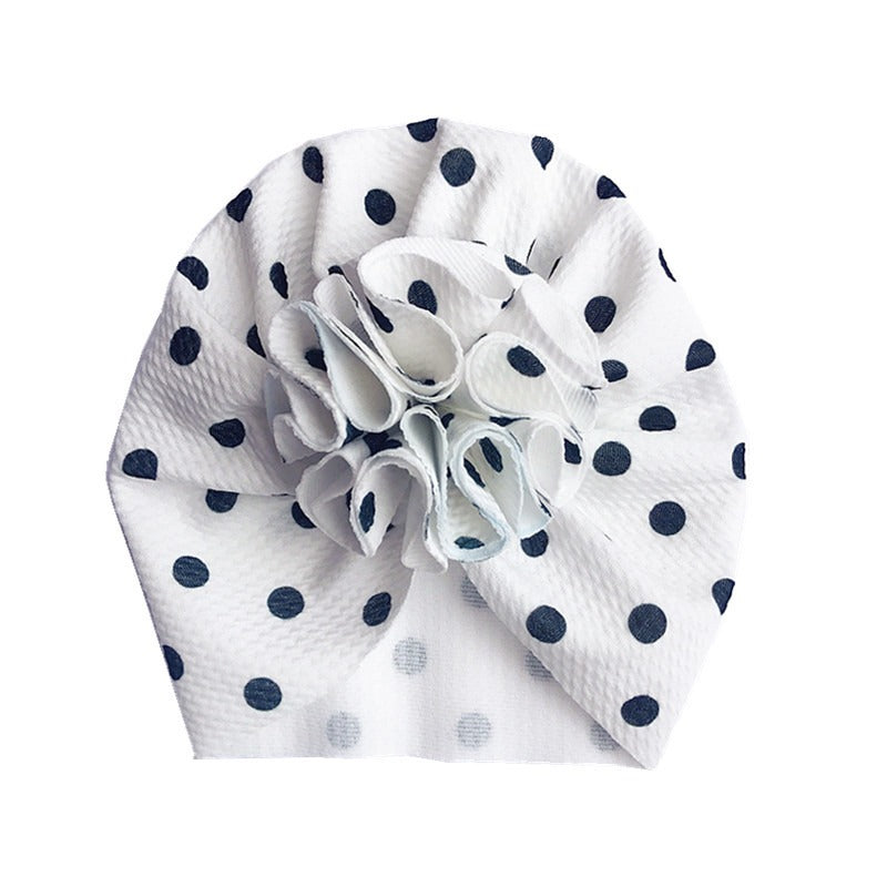 Baby Bobble Knot Turban — Spotty