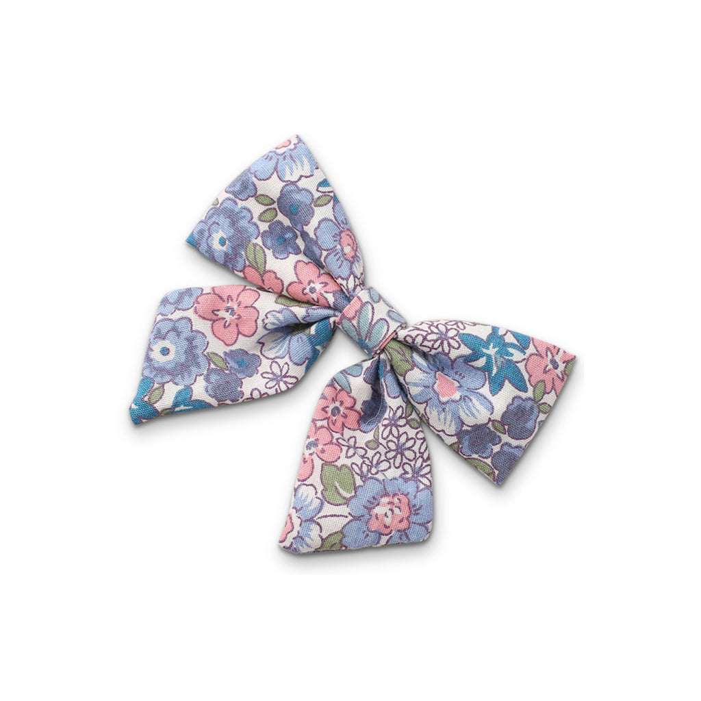 Baby Linen Bow Headband — Steel Rose