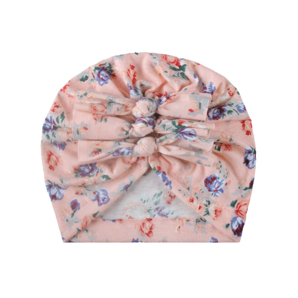 Baby Triple Knot Hairwrap Turban — Pink Floral