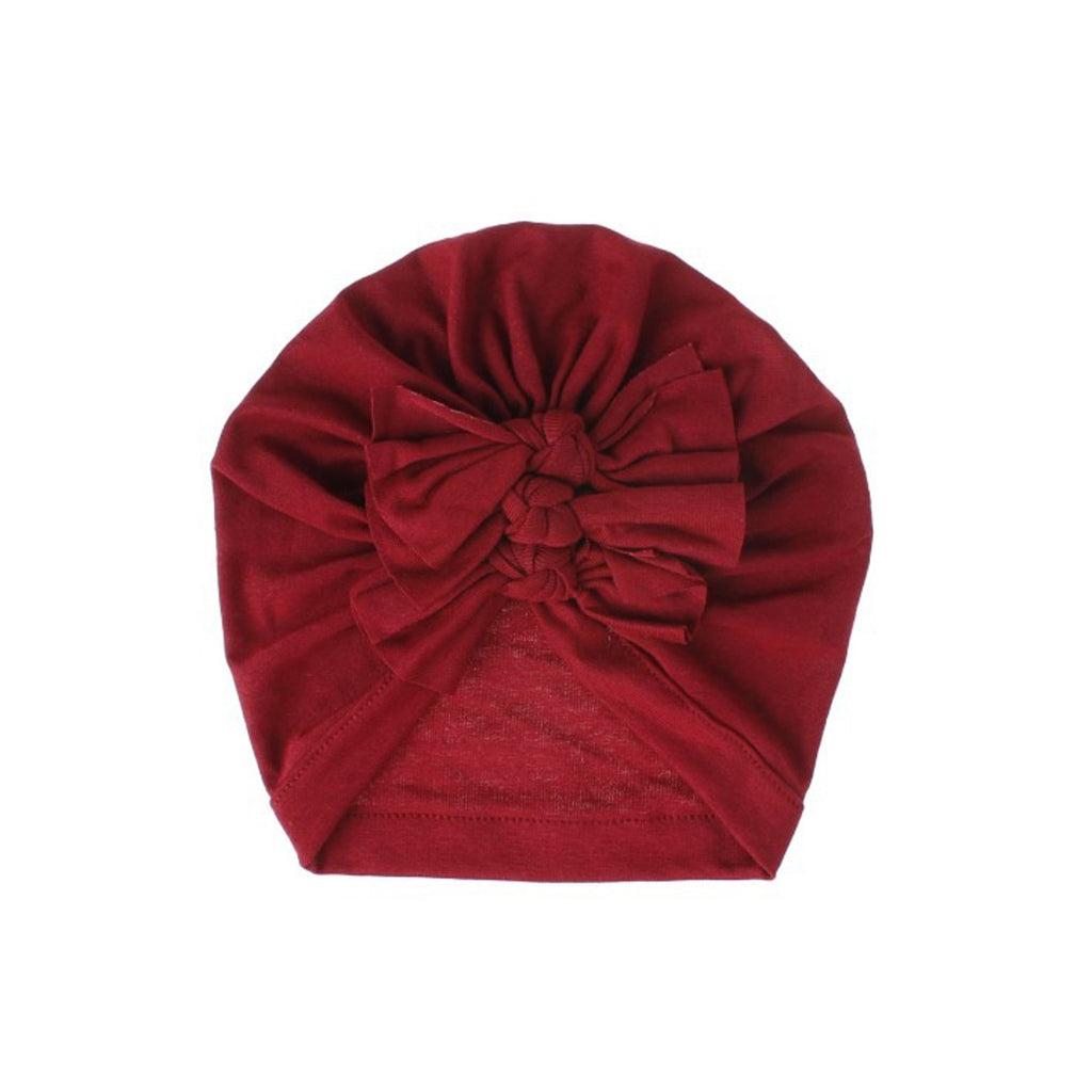 Baby Triple Knot Turban — Cherry