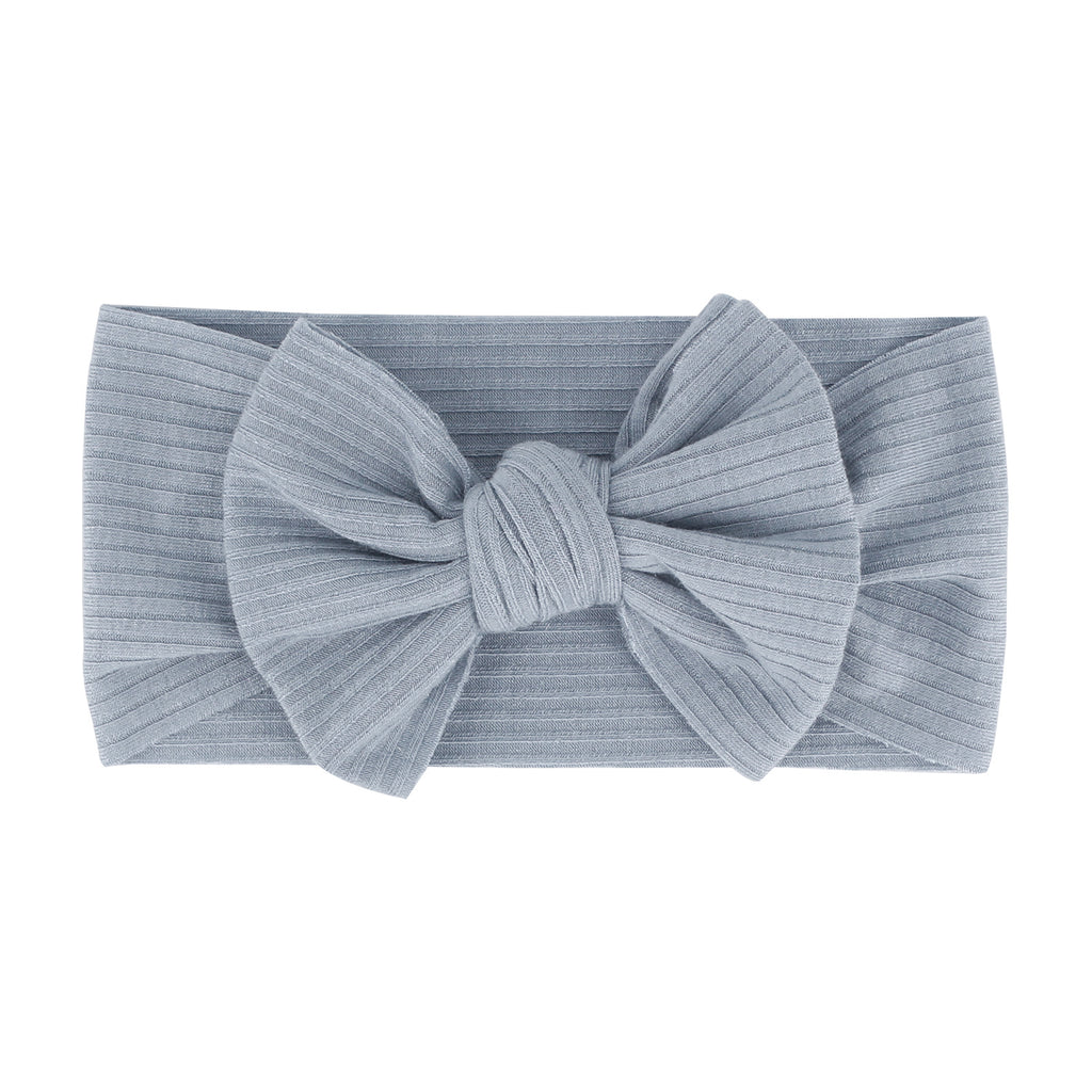 Baby Textured Single Soft Bow Knot Headband — Blue
