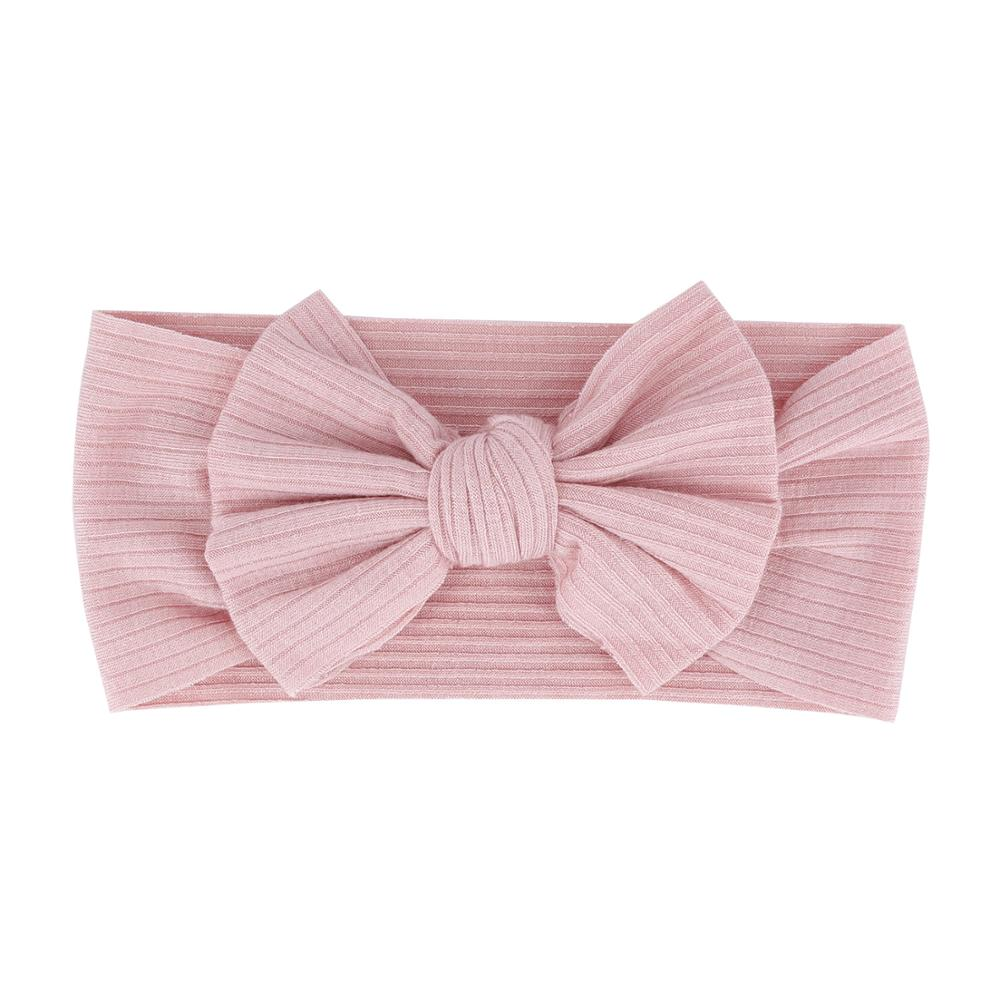 Baby Textured Single Soft Bow Knot Headband — Pink