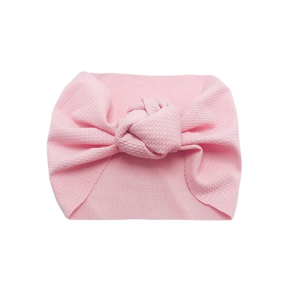 Baby Wide Bow Knot Headband — Blush