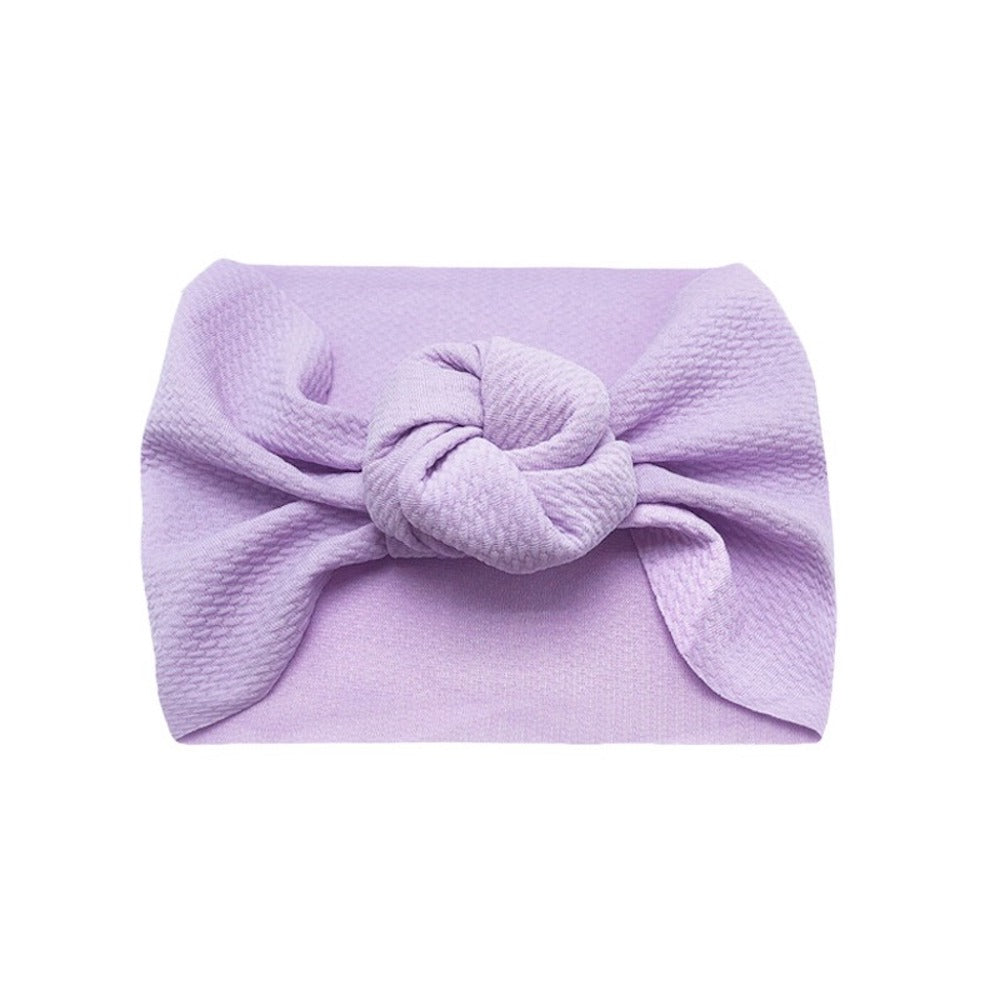 Baby Wide Bow Knot Headband — Orchid