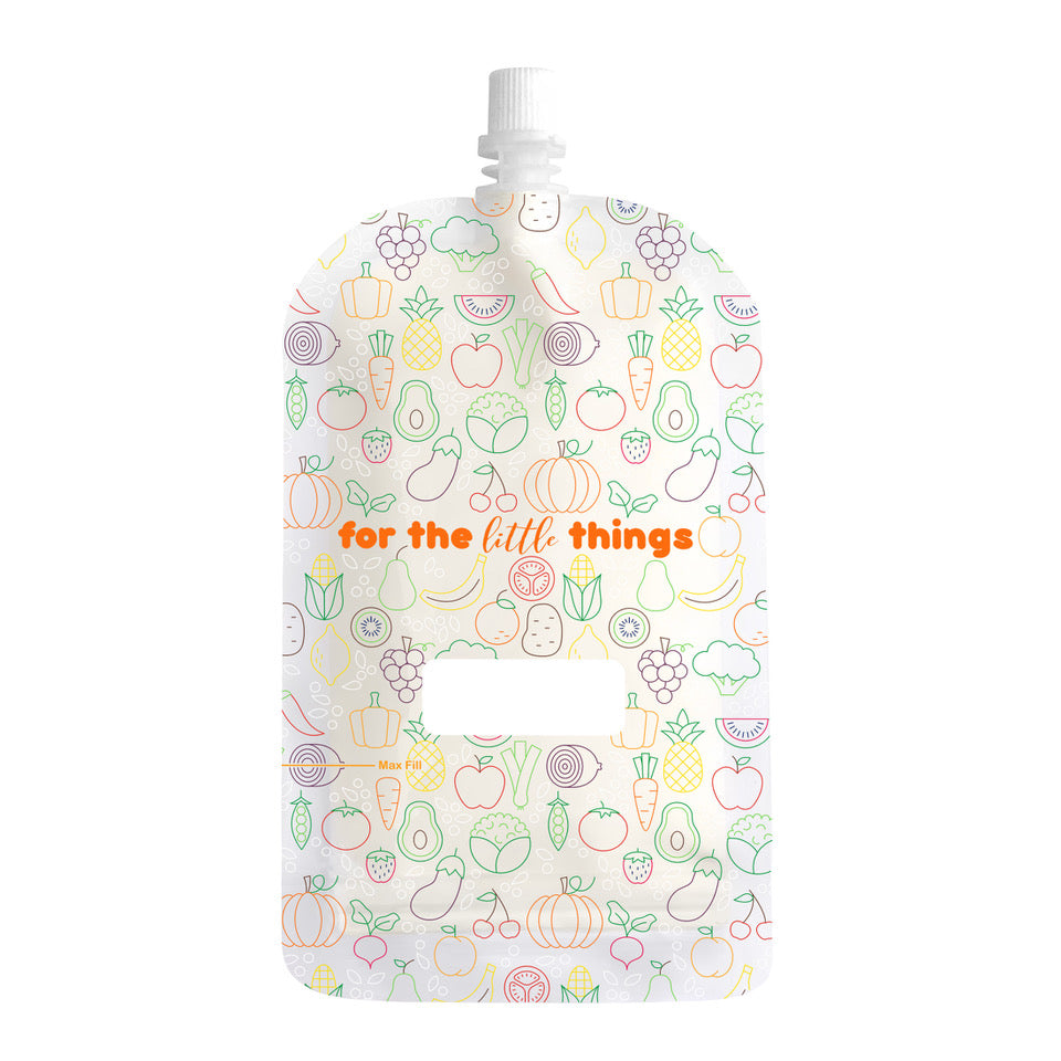 Sinchies 200ml Reusable Baby Food Pouch 10 Pack — Fruit & Vegetables