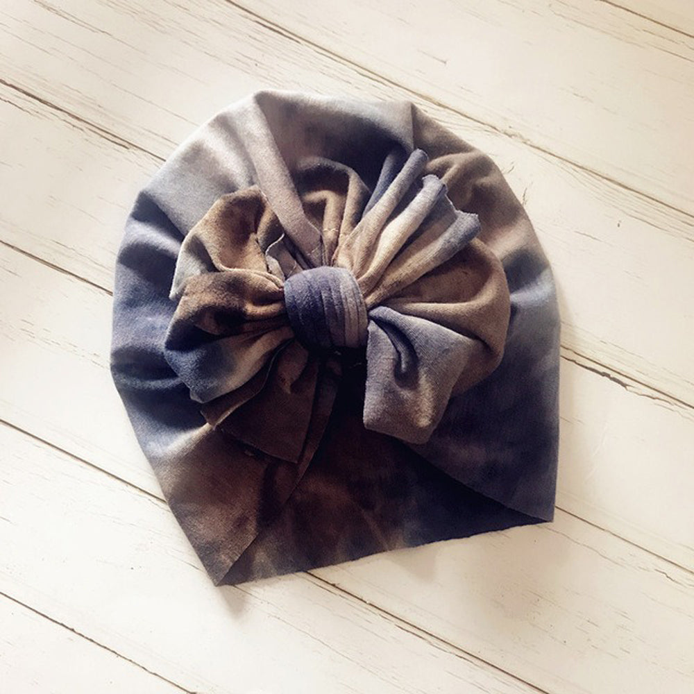 Baby Top Knot Bow Turban — Tie Die
