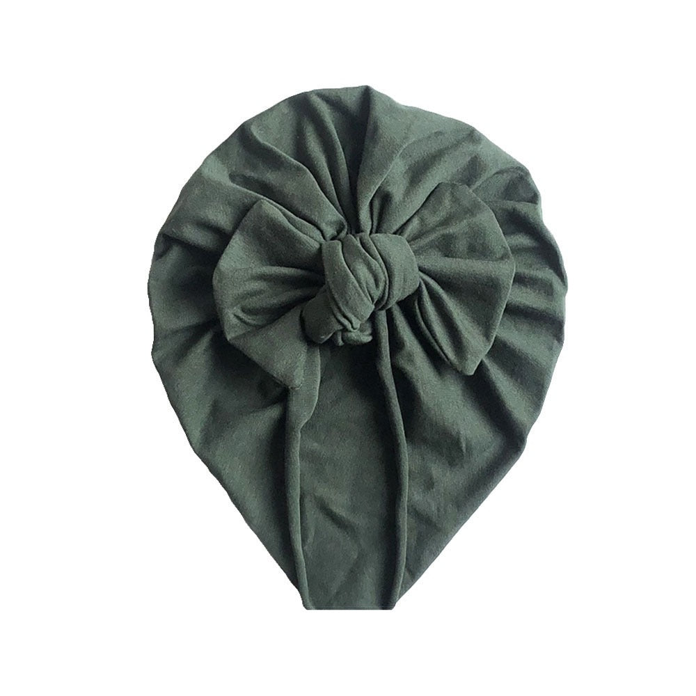 Soft Cotton Bow Turban — Sage