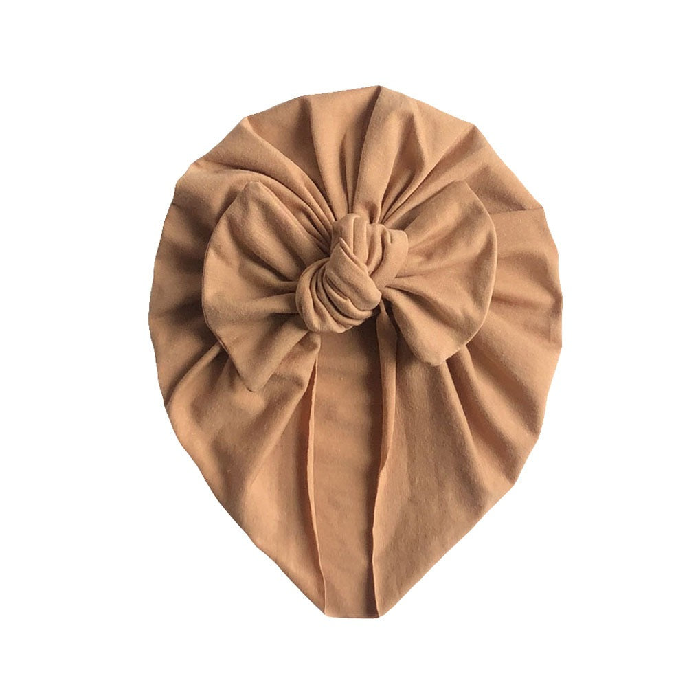 Soft Cotton Bow Turban — Tawny