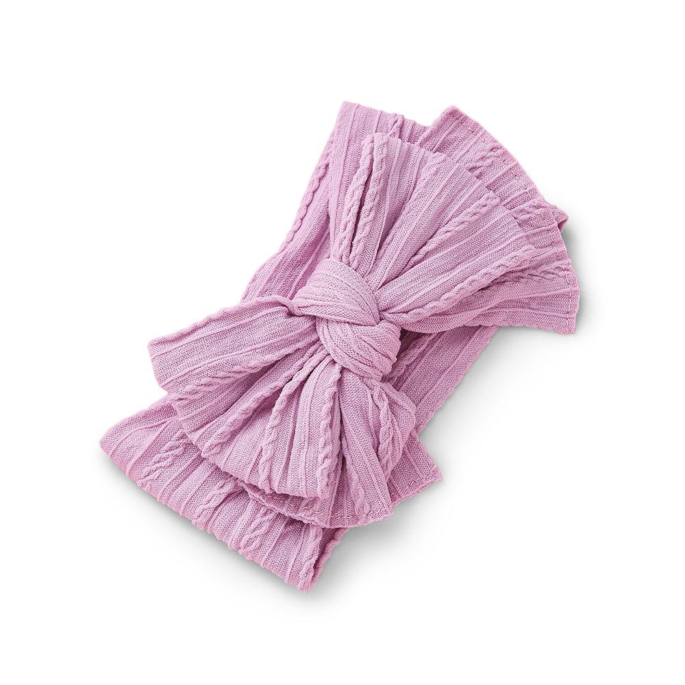 Baby Top Knot Double Bow Headband — Orchid
