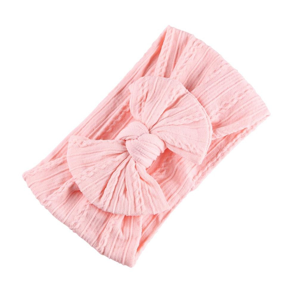 Baby Top Knot Single Bow Headband — Coral
