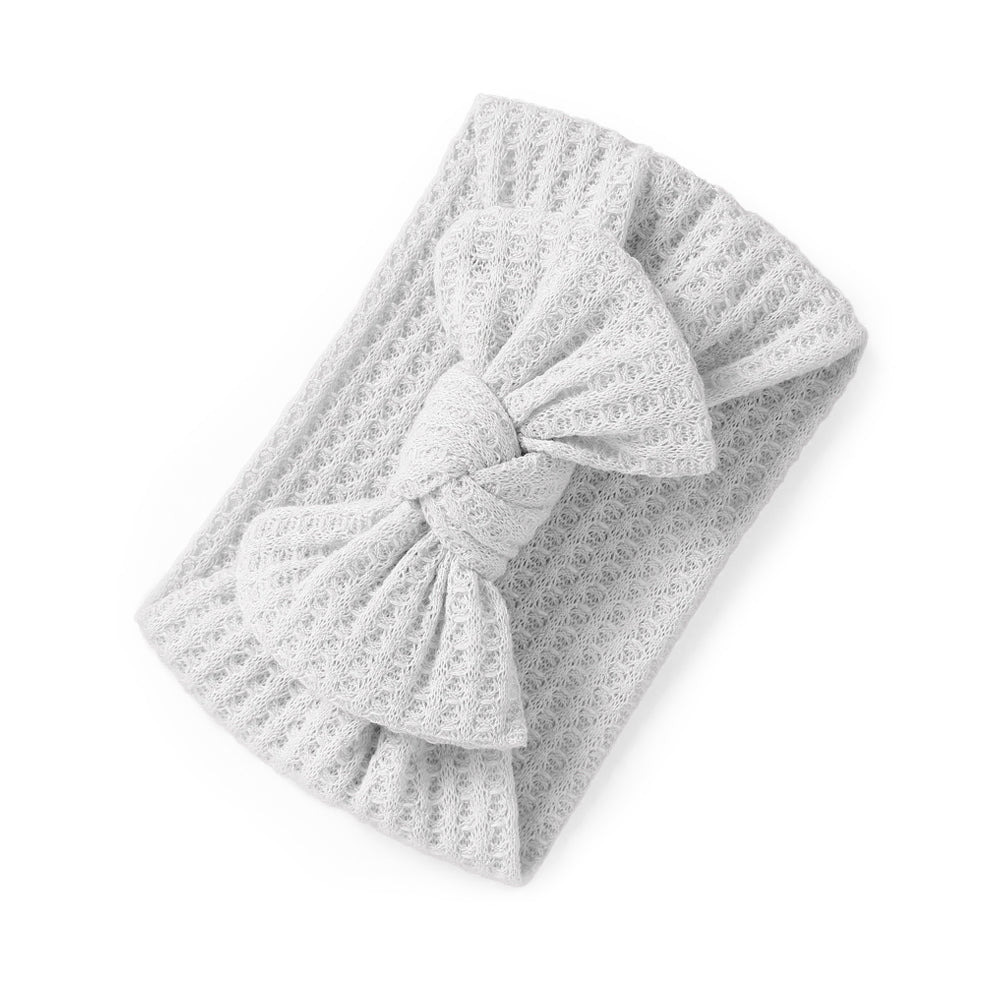 Baby Knitted Single Soft Bow Knot Headband — Ivory