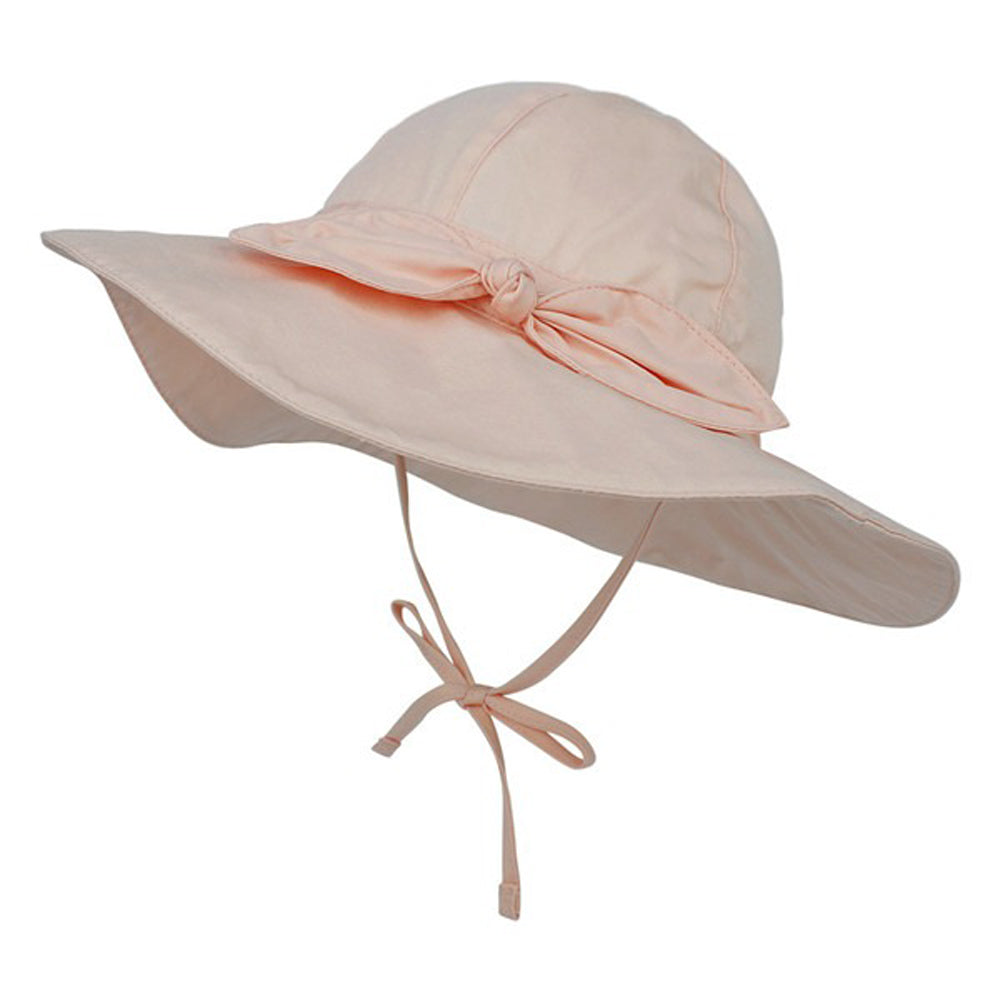 Wide Brim Baby Sun Hat — Peach
