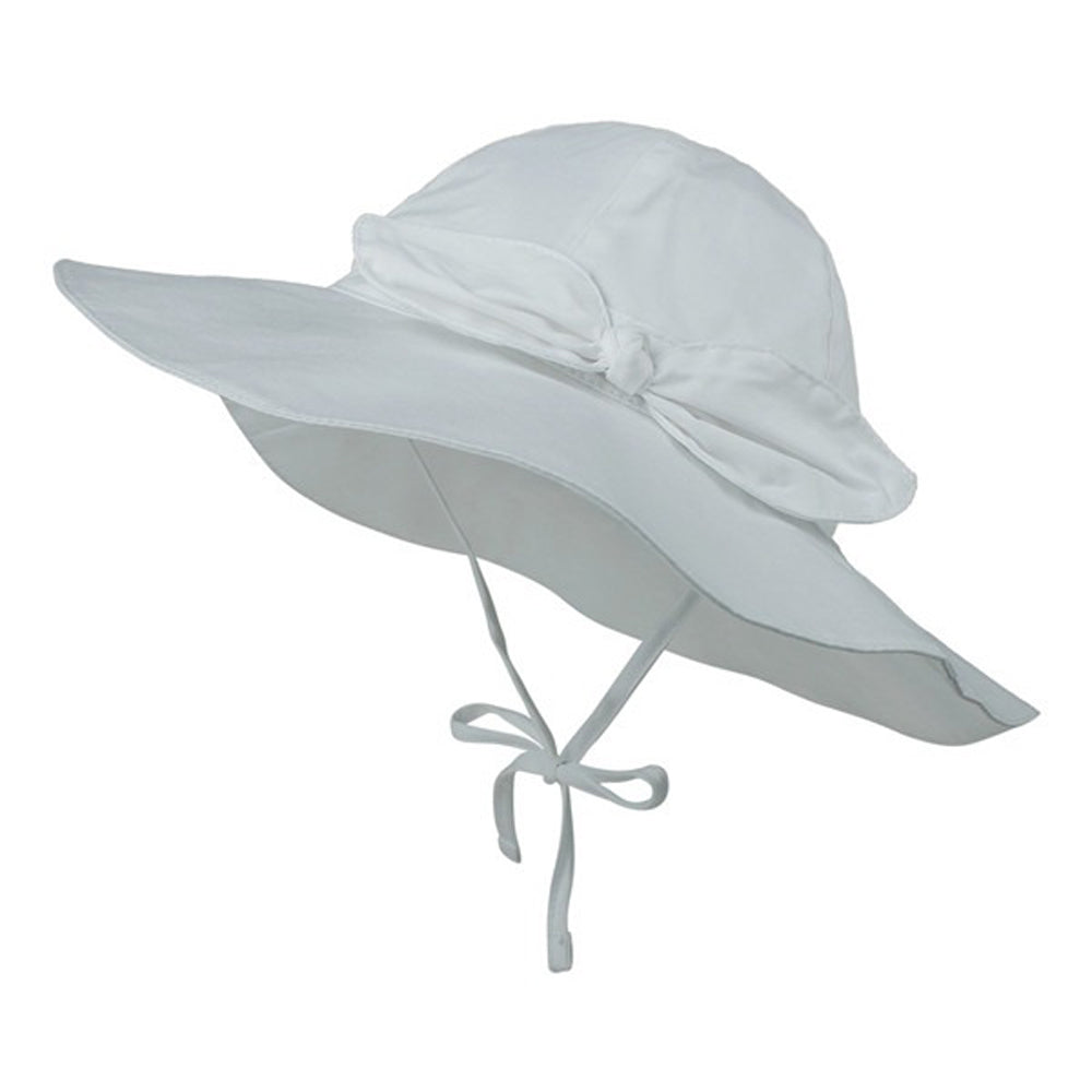 Wide Brim Baby Sun Hat — White