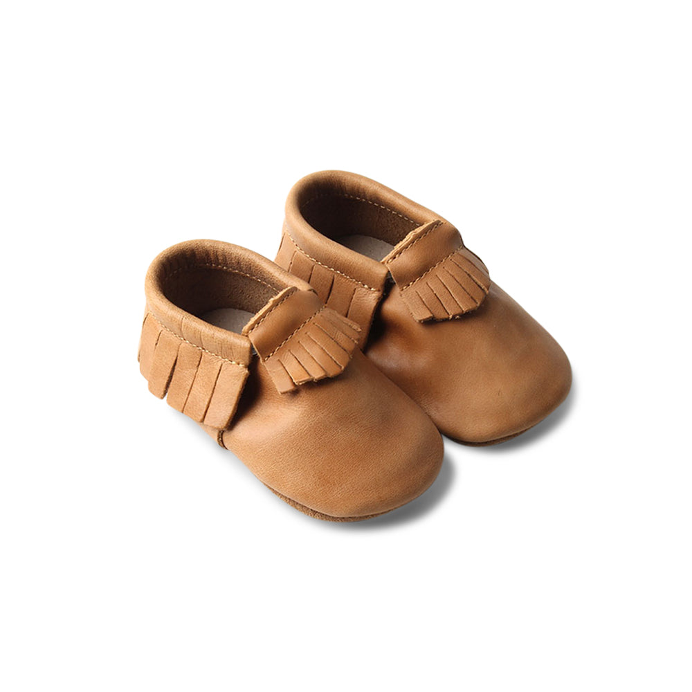 Chipmunk Baby Fringed Moccasin Shoe