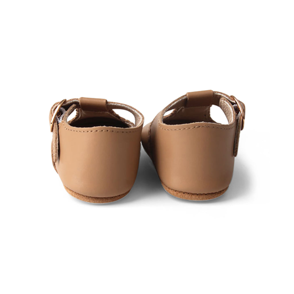 Peanut Leather Baby T Bar Shoe
