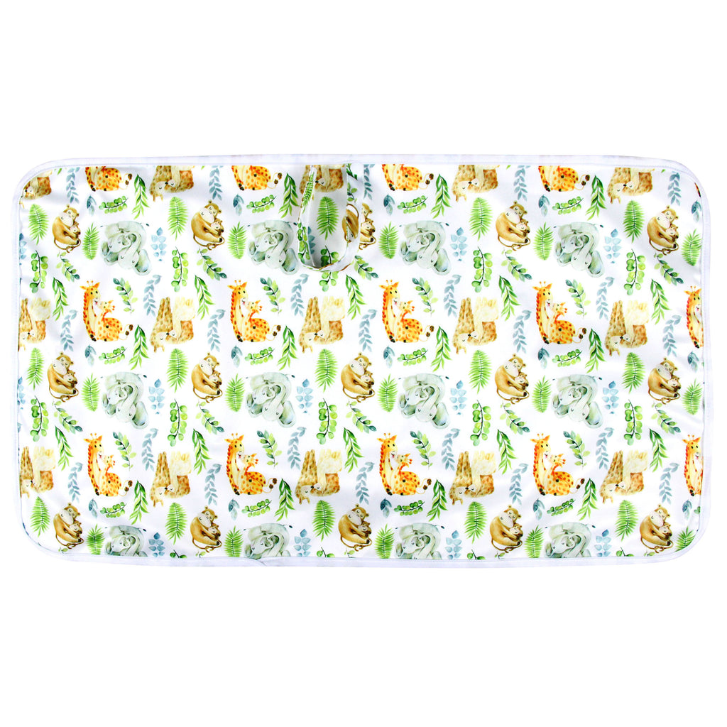 Portable Waterproof Baby Change Mat — Jungle Watercolour