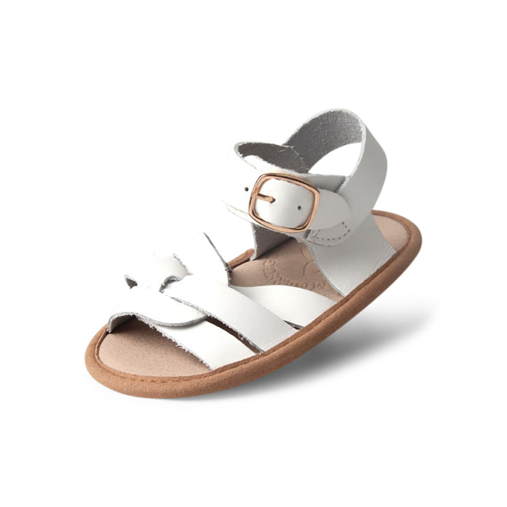 Snow White Weave Leather Baby Sandal