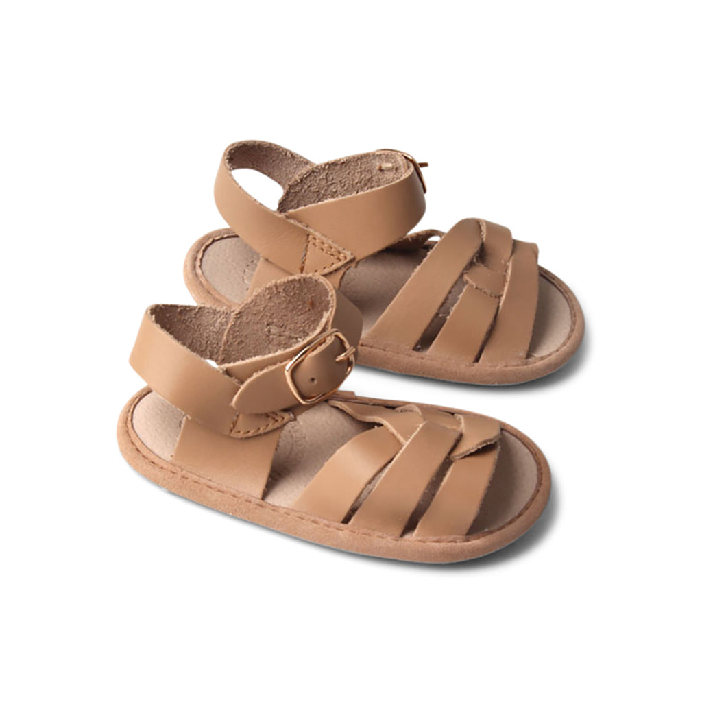 Tawny Weave Leather Baby Sandal