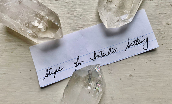 Intention setting with crystals and meditation