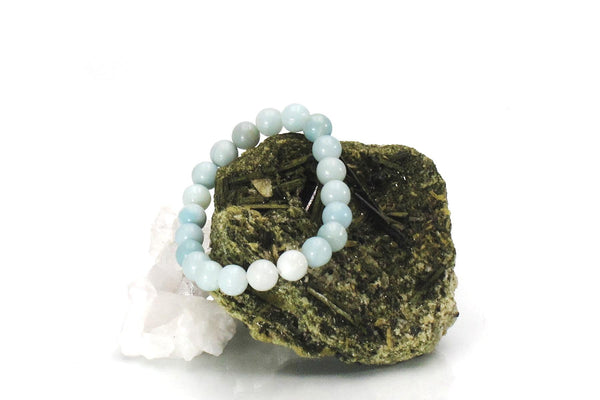 Amazonite energy bracelet with crystal