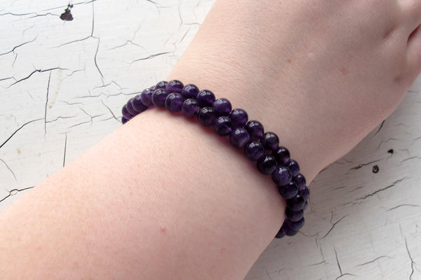 amethyst energy bracelet models arm