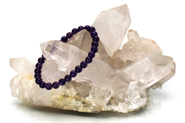 amethyst energy bracelet with crystal