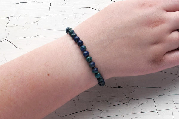 azurite malachite energy bracelet models arm
