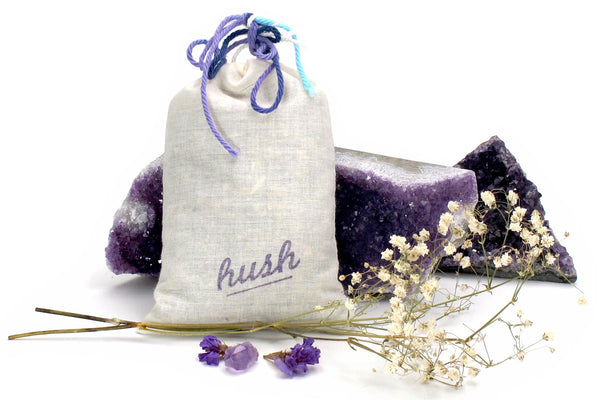chill out dream pillow with crystal and flowers